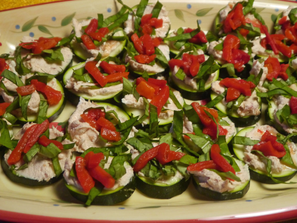 Smoked Salmon, Basil and Zucchini Appetizer »• Karney Family ...